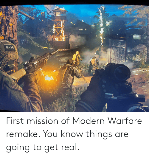 modern warfare: First mission of Modern Warfare remake. You know things are going to get real.