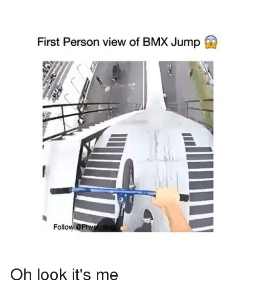 BMX: First Person view of BMX Jump  Follow @Phya Dog Oh look it's me