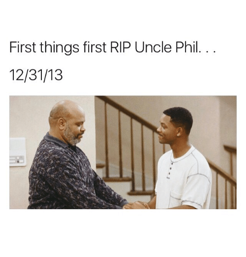 Memes, Uncle Phil, and 🤖: First things first RIP Uncle Phil.  12/31/13