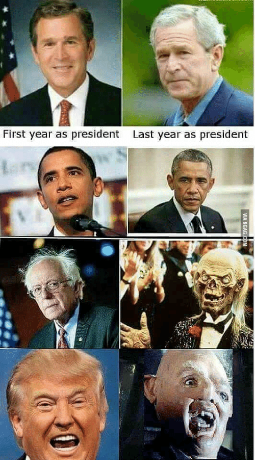 first year as president last year as president 13528802 oo via 9gagcom presidential photos before and after office meme,Obama Before And After Meme