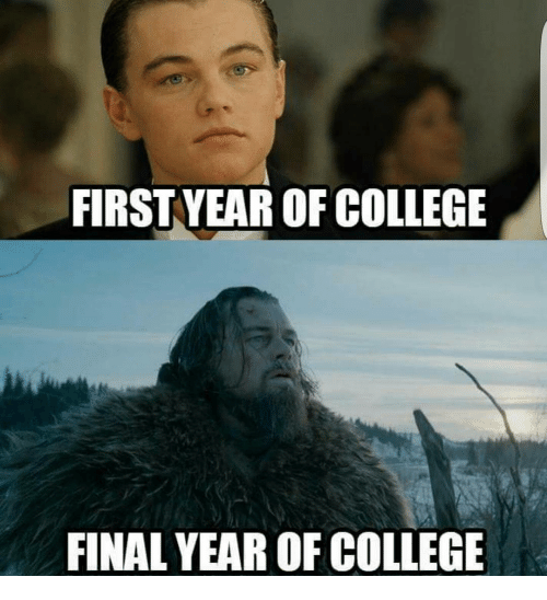 Funny Meme For Finals : First year of college final meme on sizzle