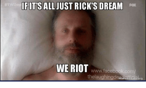 Facebook, Memes, and Riot: FITS ALL JUST RICK'S DREAM Fox  WE RIOT  www.facebook.com/  thelaughingdenskoumianiebro  ákeame