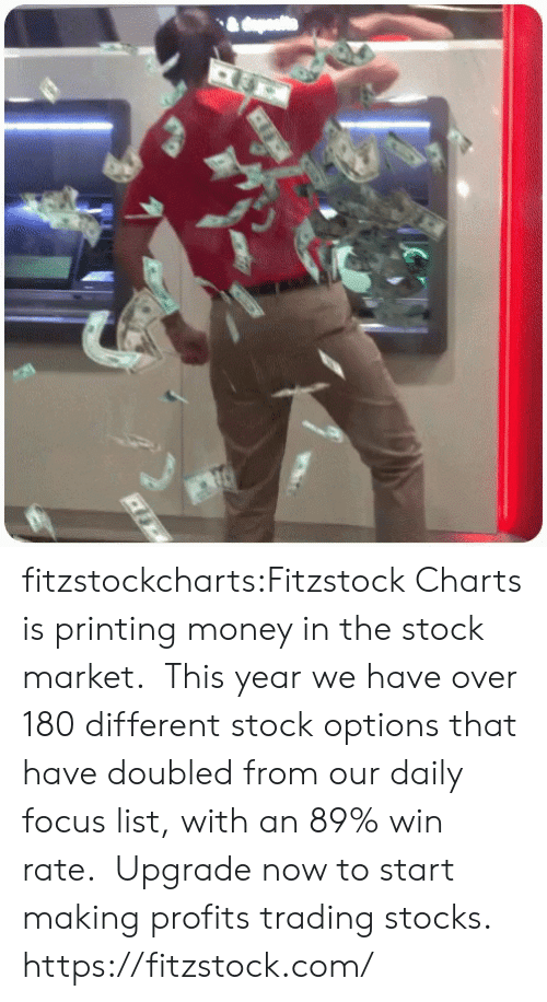 trading: fitzstockcharts:Fitzstock Charts is printing money in the stock market.  This year we have over 180 different stock options that have doubled from our daily focus list, with an 89% win rate.  Upgrade now to start making profits trading stocks.  https://fitzstock.com/
