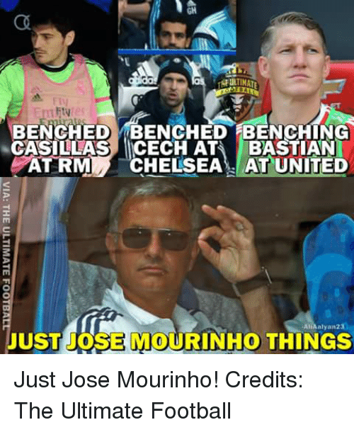 fiv bench ed benched benching casillas icech ata bastian atrm 4965750 🔥 25 best memes about jos� mourinho jos� mourinho memes,Jose Mourinho Meme