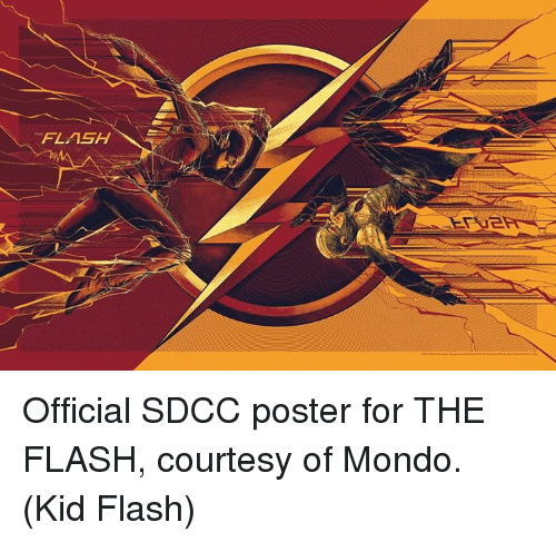 posterize: FLASH Official SDCC poster for THE FLASH, courtesy of Mondo.  (Kid Flash)