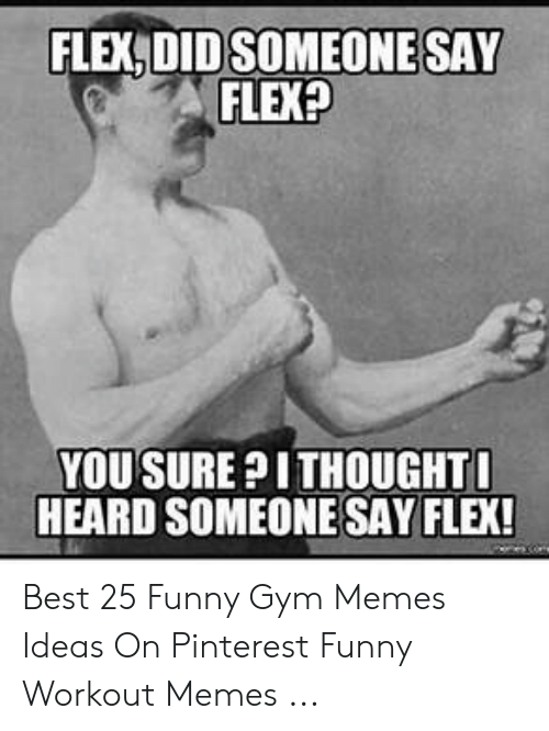Funny Workout Memes: FLEX DID SOMEONE SAY  FLEX?  YOUSURE?ITHOUGHTO  HEARD SOMEONESAY FLEX! Best 25 Funny Gym Memes Ideas On Pinterest Funny Workout Memes ...