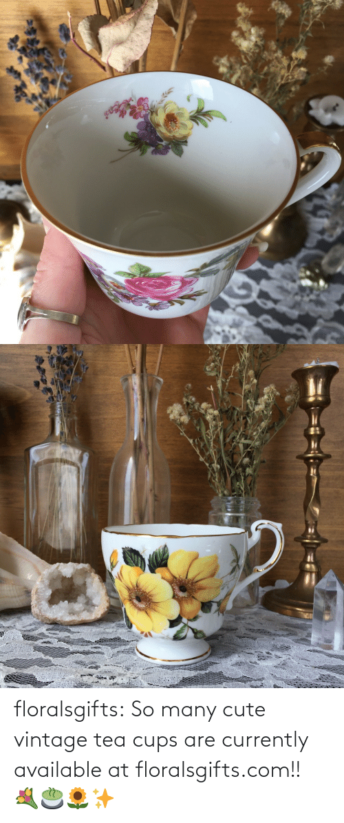 tea: floralsgifts:  So many cute vintage tea cups are currently available at floralsgifts.com!! 💐🍵🌻✨