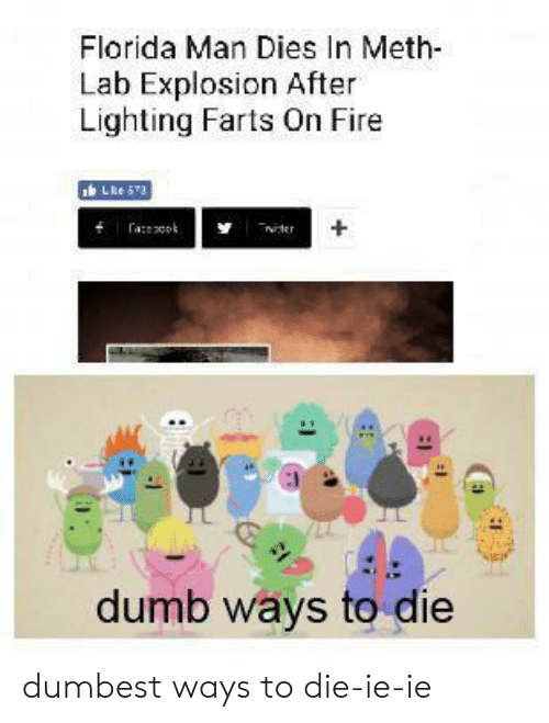 ways to die: Florida Man Dies In Meth  Lab Explosion After  Lighting Farts On Fire  LReS3  aot  ter  dumb ways to die dumbest ways to die-ie-ie