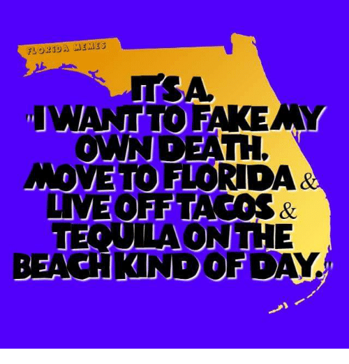 Florida Meme: FLORIDA MEMES  IWANTTOFA KENNY  OWN DEATH  ANOMETO FIORDA  LIVE OF PTA  TEQUILA ONTH  BEACH NDO FDA