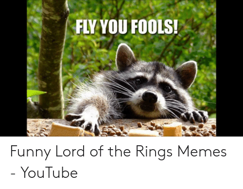 Funny Lord Of The Rings: FLY YOU FOOLS! Funny Lord of the Rings Memes - YouTube