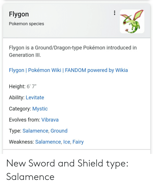 """flygon: Flygon  Pokemon species  Flygon is a Ground/Dragon-type Pokémon introduced in  Generation III.  Flygon 