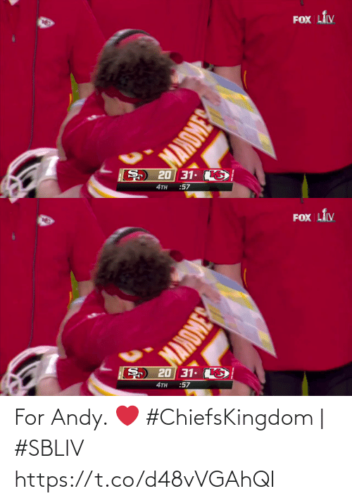 Andy: For Andy. ❤️  #ChiefsKingdom | #SBLIV https://t.co/d48vVGAhQI