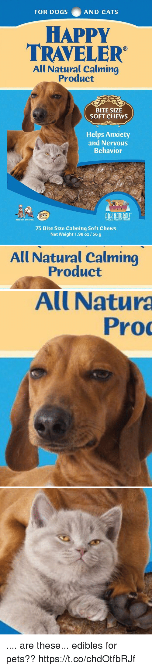 All natural calming product bite size soft chews