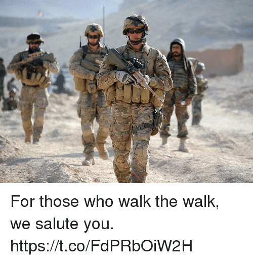 Memes, 🤖, and Who: For those who walk the walk, we salute you. https://t.co/FdPRbOiW2H
