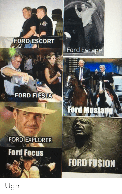 Ford Focus: FORD ESCORT  Ford Escape  FORD FIESTA  Ford Mustang  FORD EXPLORER  Ford Focus  FORD FUSION Ugh