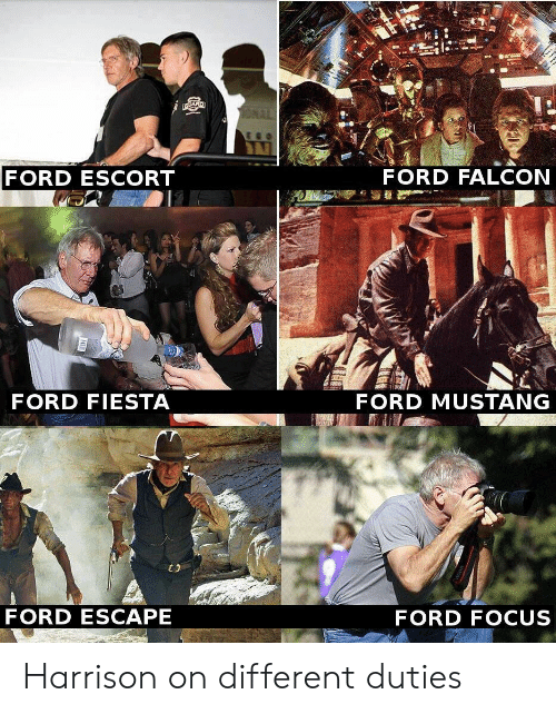 mustang ford: FORD ESCORT  FORD FALCON  9  FORD FIESTA  FORD MUSTANG  FORD ESCAPE  FORD FOCUS Harrison on different duties