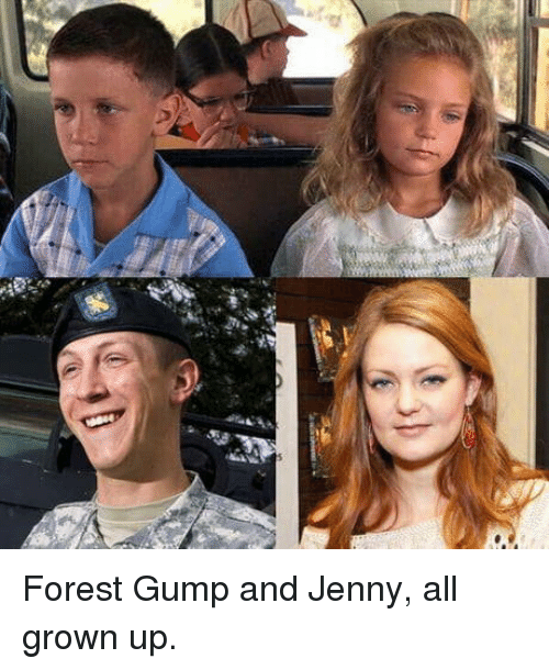 all grown up: Forest Gump and Jenny, all grown up.