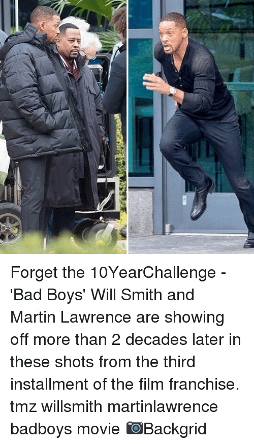 Bad Boys: Forget the 10YearChallenge - 'Bad Boys' Will Smith and Martin Lawrence are showing off more than 2 decades later in these shots from the third installment of the film franchise. tmz willsmith martinlawrence badboys movie 📷Backgrid