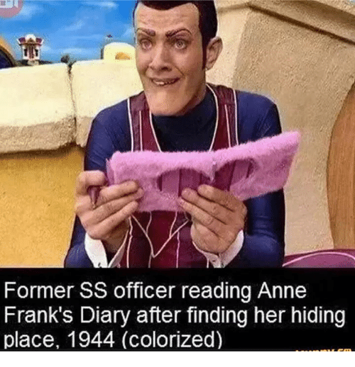 Anne Frank, Office, and Dank Memes: Former SS officer reading Anne  Frank's Diary after finding her hiding  place, 1944 (colorized)