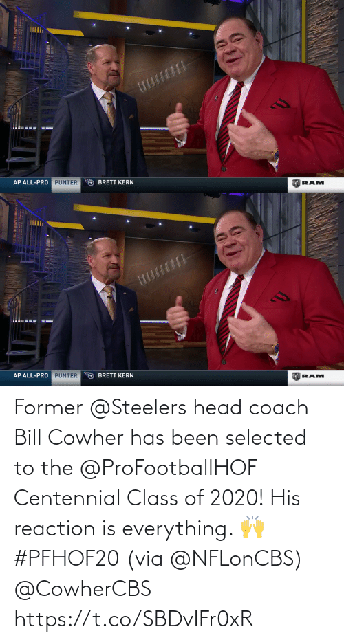 reaction: Former @Steelers head coach Bill Cowher has been selected to the @ProFootballHOF Centennial Class of 2020!  His reaction is everything. 🙌 #PFHOF20 (via @NFLonCBS) @CowherCBS https://t.co/SBDvIFr0xR