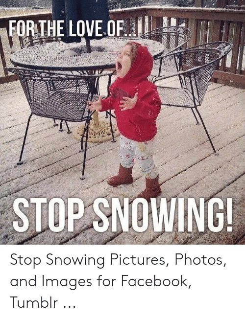 Stop Snowing: FORTHE LOVE OF  STOP SNOWING Stop Snowing Pictures, Photos, and Images for Facebook, Tumblr ...