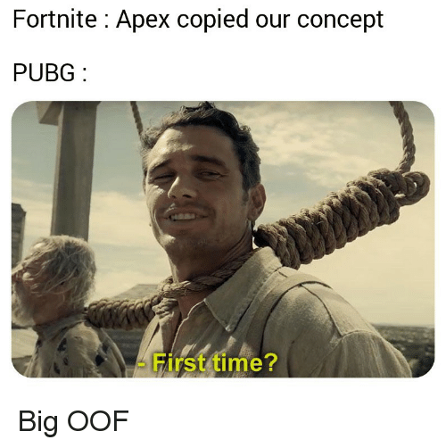 Pubg: Fortnite: Apex copied our concept  PUBG  First time? Big OOF