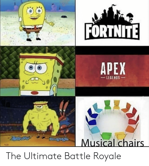 Battle Royale: FORTNITE  APEX  LEGENOS  Musical chairs The Ultimate Battle Royale