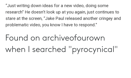 "Pyrocynical: Found on archiveofourown when I searched ""pyrocynical"""