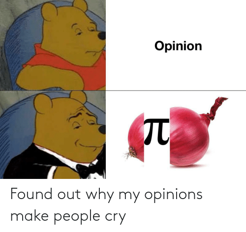 opinions: Found out why my opinions make people cry