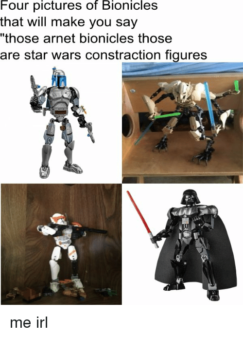 "Pictures Of Bionicle: Four pictures of Bionicles  that will make you say  ""those arnet bionicles those  are star wars constraction figures  A me irl"