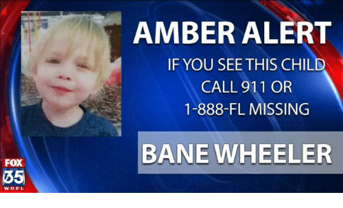 Bane, Memes, and Amber Alert: FOX  35  WOFL  AMBER ALERT  IF YOU SEE THIS CHILD  CALL 911 OR  1-888-FL MISSING  BANE WHEELER
