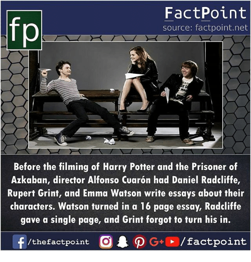 an essay on harry potter and the prisoner of azkaban Supersummary, a modern alternative to sparknotes and cliffsnotes, offers high-quality study guides that feature detailed chapter summaries and analysis of major themes, characters, quotes, and essay topics this one-page guide includes a plot summary and brief analysis of harry potter and the prisoner of azkaban by j k rowling.