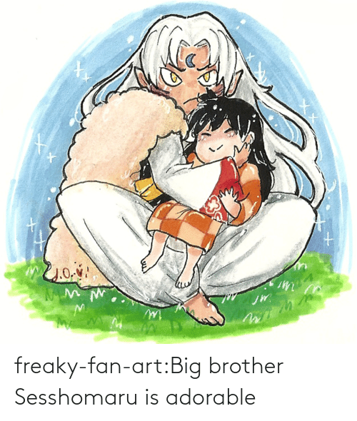 freaky: freaky-fan-art:Big brother Sesshomaru is adorable