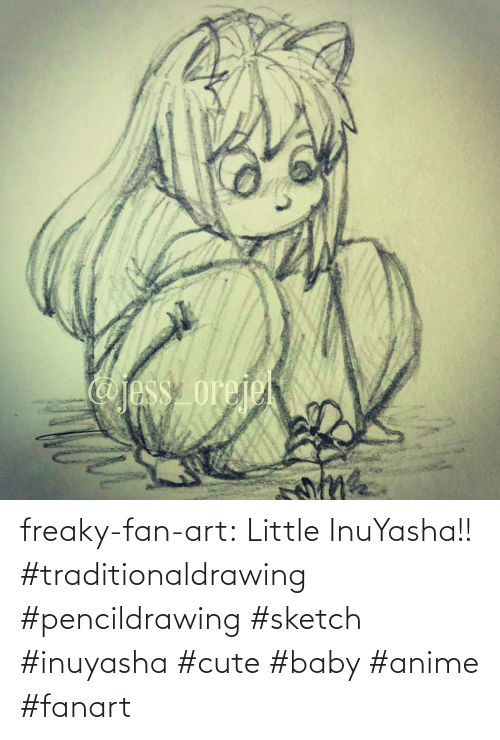 freaky: freaky-fan-art: Little InuYasha!! #traditionaldrawing #pencildrawing #sketch #inuyasha #cute #baby #anime #fanart