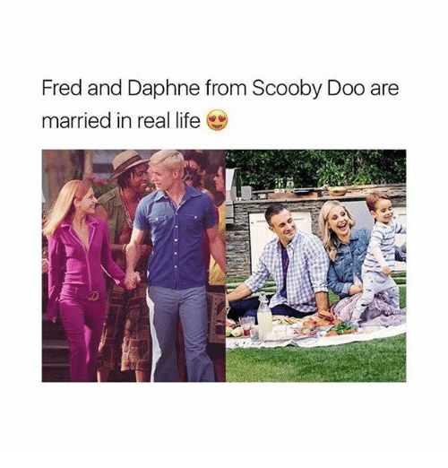 daphne: Fred and Daphne from Scooby Doo are  married in real life