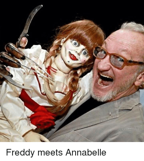 Memes, 🤖, and Freddy: Freddy meets Annabelle