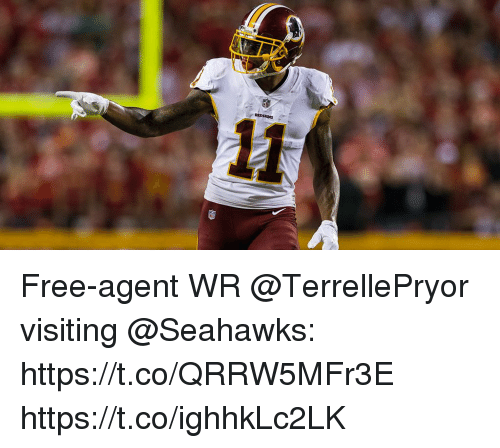 Memes, Free, and Seahawks: Free-agent WR @TerrellePryor visiting @Seahawks: https://t.co/QRRW5MFr3E https://t.co/ighhkLc2LK