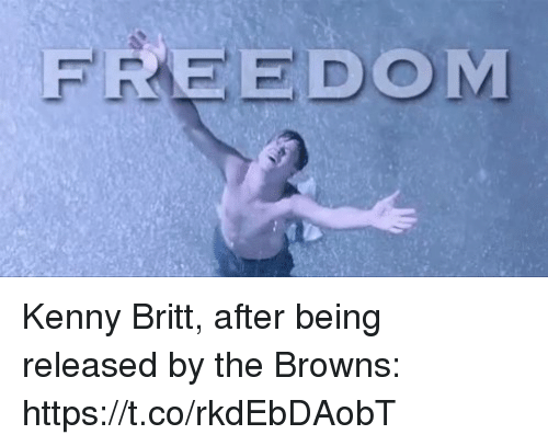 Sports, Browns, and Freedom: FREEDOM Kenny Britt, after being released by the Browns: https://t.co/rkdEbDAobT