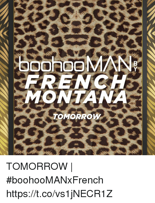 Memes, Tomorrow, and 🤖: FRENC  TOMORROW TOMORROW | #boohooMANxFrench https://t.co/vs1jNECR1Z
