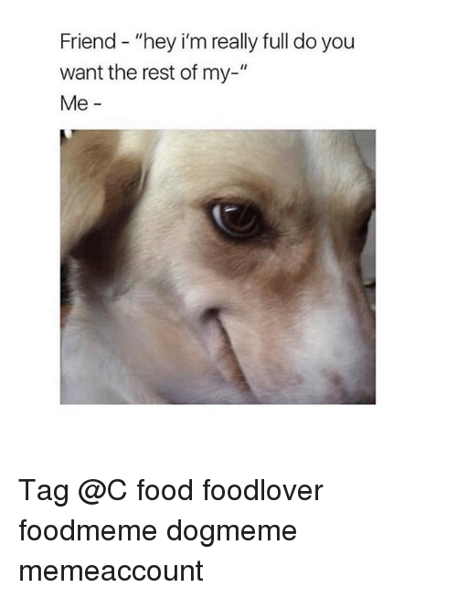 """Food, Girl, and Rest: Friend - """"hey i'm really full do you  want the rest of my-""""  Me - Tag @C food foodlover foodmeme dogmeme memeaccount"""