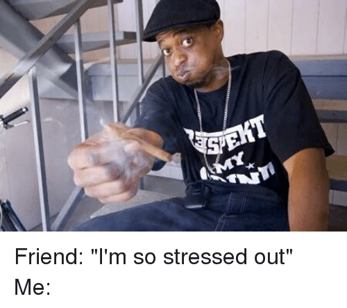 Funny Stressed Out Meme : Friend i m so stressed out me friends meme on sizzle