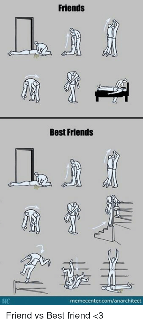 Memes, 🤖, and Friend vs Best Friend: Friends  Best Friends  memecenter.com/anarchitect Friend vs Best friend <3