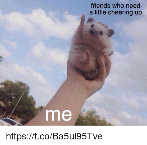 Cheering Up: friends who need  a little cheering up  me https://t.co/Ba5ul95Tve