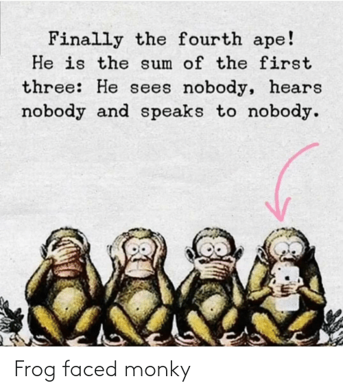 frog: Frog faced monky