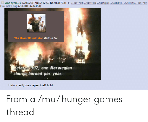 The Hunger Games: From a /mu/ hunger games thread