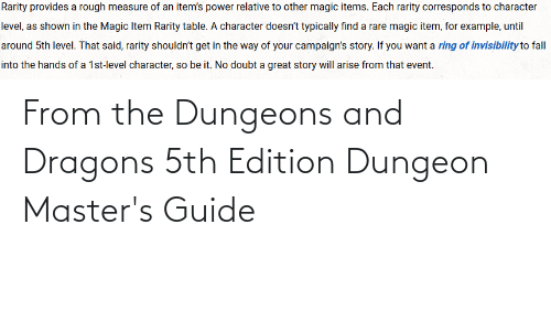 dungeons: From the Dungeons and Dragons 5th Edition Dungeon Master's Guide