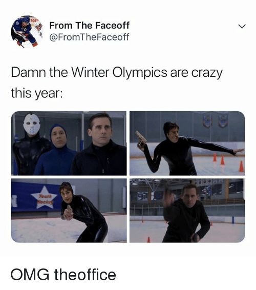 Crazy, Omg, and Winter: From The Faceoff  @FromTheFaceoff  Damn the Winter Olympics are crazy  this year: OMG theoffice