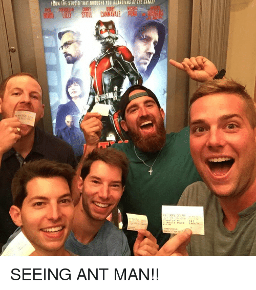 ant man: FROM THE STU010 THAT BROUGHT YOU GUARDIANS GFTRE SAMr  RU00 LILLY STOLL CANNAVALEP  ePQ13 Adult SEEING ANT MAN!!