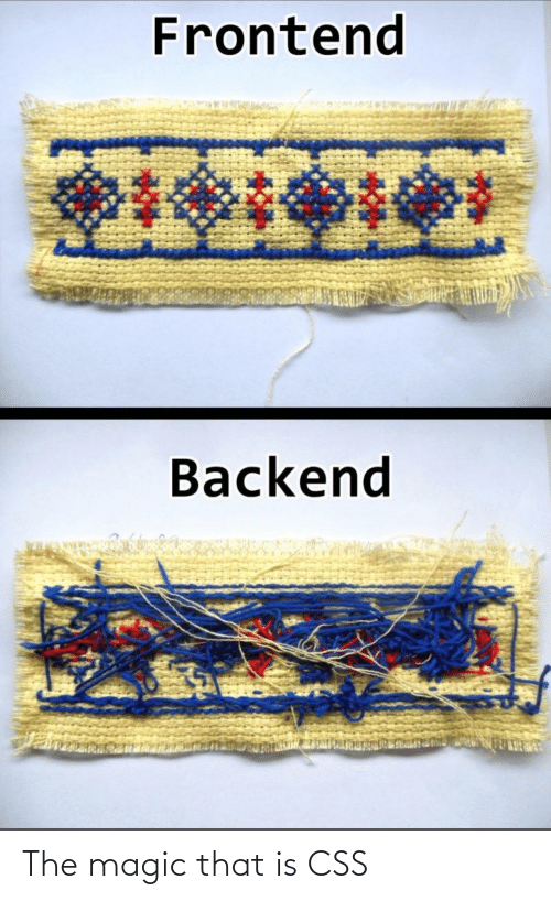 css: Frontend  Backend The magic that is CSS