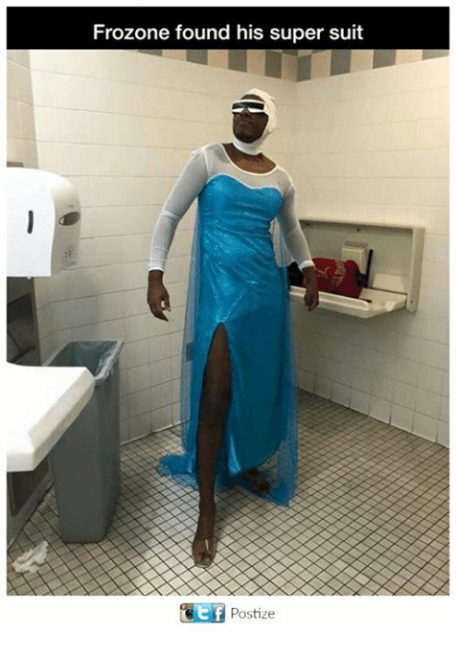Frozone: Frozone found his super suit  GE Postize  f